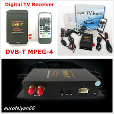 12V HD Car Off-Road Phone Digital DVB-T MPEG4 TV Receiver Box Tuner Dual Antenna