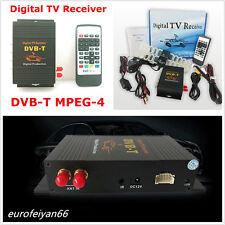 12V HD coche Off-Road Teléfono Digital DVB-T MPEG 4 TV Antena Doble Sintonizador de caja del receptor