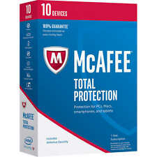 Original Retail-sealed Box - McAfee Total Protection 2017(2018) - 10 Device