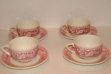 Royal China Memory Lane 4 cups & saucers- ex cond