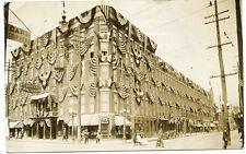 RPPC NY Elmira 1912 Street Corner Patriotic Scene Chemung County
