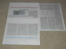 Sony EL-5 Elcaset Review, 1977, 3 pgs, Very Rare Info! Full Test, Specs