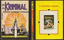 KRIMINAL 282 DOSSIER DROGA - 26 NOVEMBRE 1970 200 LIRE ROMANINI