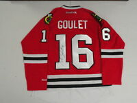 MICHEL GOULET SIGNED REEBOK PREMIER CHICAGO BLACKHAWKS 1992 STANLEY CUP JERSEY
