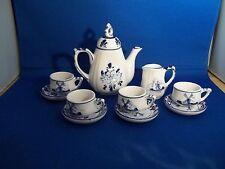 "Beautiful 10-Piece Porcelain ""Holland"" Mini Tea Set - Windmill - Great condition"