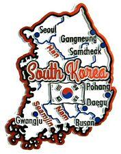 South Korea Map Outline Fridge Magnet