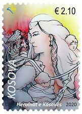 Kosovo Stamps 2020. Heroines of Kosovo. Woman with child. Set MNH