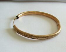 Antique Victorian Gold Filled Dainty Etched BABY Child's Bracelet