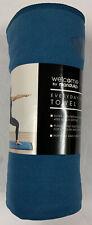 "Welcome by Manduka Yoga Mat Towel Blue 70"" x 26"" Quick Drying New!"