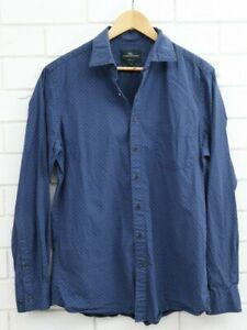 Rodd and Gunn Sports Fit Blue Long Sleeve Button Up 100% Cotton Size Medium
