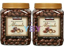 2 Packs Kirkland Signature Milk Chocolate Covered Almonds 3 LB Each Pack