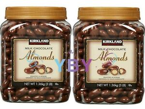 2 Packs Kirkland Signature Milk Chocolate Covered Almonds 3 LB Each Pack