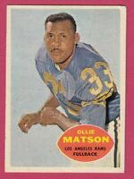 1960 Topps Football # 63 Ollie Matson - Los Angeles Rams -- Box 708-155