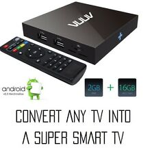 VUUV Digital Signage RTC Battery Android 6 Smart TV Box,Quad Core 2GB/16GB 4K