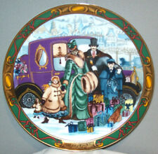 "Royal Copenhagen ""Juleindkob"" Christmas Shopping 1992 Collector's Plate 8-3/8"""
