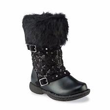 Athletech Toddler Girls' Black/Purple Rue Snowflakes Snow Winter Boots Size 8 M