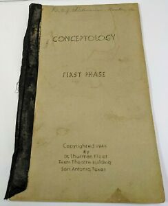Chiropractic History Conceptology Dr Thurman Fleet RARE 1946 Book medical doctor