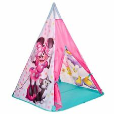 MINNIE MOUSE TEEPEE PLAY TENT FOLDABLE QUICK ASSEMBLY GIRLS KIDS PLAYROOM