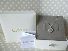 "Clogau, Silver & Rose Gold Tudor Court White Topaz Locket & 22"" Chain RRP £109"