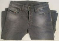 Original JEAN DIESEL Homme SLEENKER Slim Skinny Gris W28 L34 New