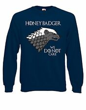 "House Honey Badger ""We Do Not Care"" Westeros Parody Jumper Sweater Pullover AG48"