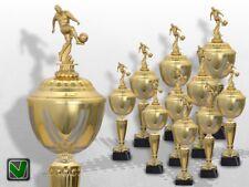 10er Fussball Pokale mit Gravur günstig kaufen Golden Prestige