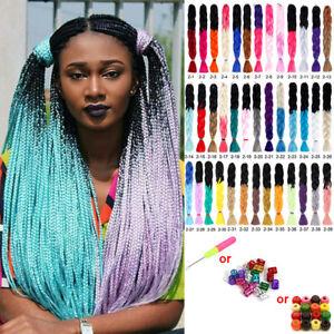 24'' Ombre Jumbo Braid Hair Extension Synthetic Twist Crochet Braiding Hair 100g