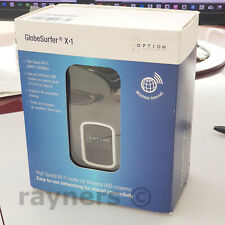 New Option GlobeSurfer X1 WiFi 160Mbps Router for Mobile Broadband Dongles