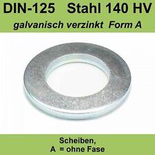 2,2 DIN125 Unterlegscheiben Scheiben Form A Stahl verzinkt f. M2 M 2 mm Unterlag