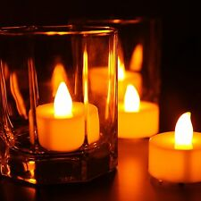 LED Flameless Tealights Battery Operated Flickering Tea Light Candles (24 pcs)