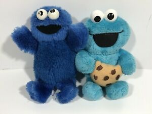 Sesame Street Cookie Monster Plush Doll Toy Muppets Stuffed Animal LOT Of 2