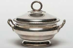 French Sterling Silver Tureen, 19th century