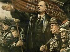 PROPAGANDA LENIN OCTOBER SOVIET USSR COMMUNISM REVOLUTION POSTER PRINT BB2468B