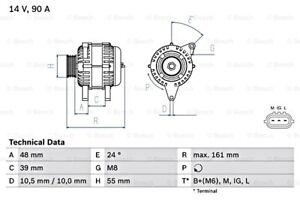 BOSCH Alternator 14V For TOYOTA Yaris 0986045861