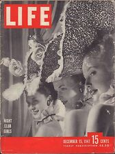 LIFE December 15,1947 Night Club Girls / Midget Racers / Streetcar Named Desire