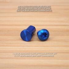 Benchmade 555 556 557 558 Mini Grip Griptilian 2PC Titanium Pivot Screw Set BLUE