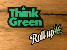 2x HANF Aufkleber Tuning Auto Hippie Bus Oldschool Peace Cannabis Hash #573