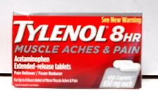Tylenol 8HR Muscle Aches & Pain 650mg 100ct Caplets  -Expiration Date 06-2018-