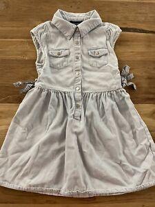 Bardot Junior Size 4 Girls Light Blue Denim Look Child Dress