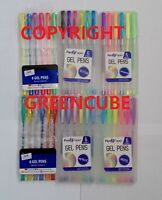 6 Gel Pens Glitter And Pastel Metallic Sparkly Art Craft for Home School Office