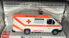 """BUSCH 43742  - Ford Transit """"Holländische Ambulance"""", H0 1:87, neu + OVP"""