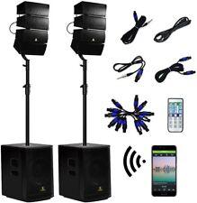 12 Inch 4000Watt Powered PA Speaker System Combo Set DJ Array Speaker Durable