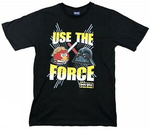 ANGRY BIRDS x STAR WARS Use the Force T-Shirt (L, Black)
