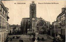 CPA  Toulouse - Place et Cathédrale St-Etienne   (582648)