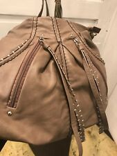 Hilary Radley Beige Studded Crossbody Handbag