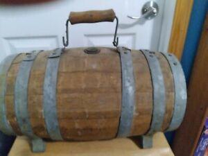 Antique Oak Civil War Era Ambulance Water Whiskey Wood Oak Keg Barrel