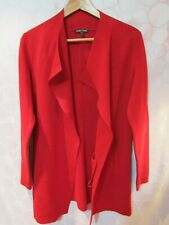 EILEEN FISHER Red Open Front Draped Cardigan Sweater Size XS
