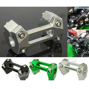 "Φ22mm 7/8"" Handlebar Riser Clamp Kit Moves Up 30mm For KAWASAKI Z250 Z300 Z900"