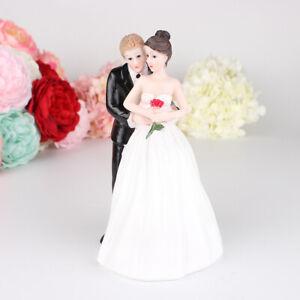 Wedding Cake Topper Bride Groom Couples Dancing Resin Figurine Party Cake Decor