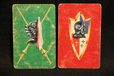 Vintage Knights Blank Back Swap Cards Detail Pics lot 18